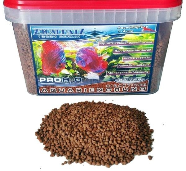 Bioaktiver Aquariengrund/ Bodengrund PRO H²O 1-4 mm 3L
