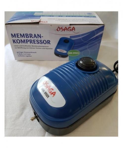 Osaga Membranpumpe ,Durchlüfterpumpe MK 9501 Aquarium Teich Sauerstoffversorgung