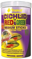 Cichlid Red&Green  250ml / 90g Medium Sticks