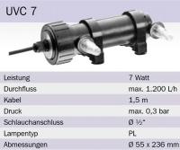 Osaga UVC Klärgerät 7 Watt