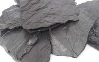 Schieferplatten ,gemischte Größen schwarz 3kg