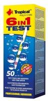 TEST 6in1 (50 Teststreifen) für Aquarien & Gartenteiche